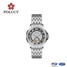Reloj de pulsera lleno de lujo del material de acero inoxidable 2016 de China Tourbillon