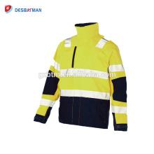Hi Vis Orange motorcycle jacket refletive Pilot Waterproof Warm Safety security Jacket Work Wear