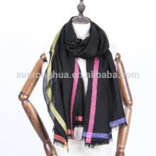 Golden lurex merceized wool scarf