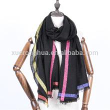 Lenço de lã merceado dourado lurex