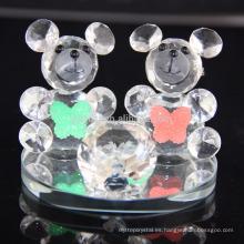 Venta caliente precioso K9 cristal oso para regalo de cumpleaños