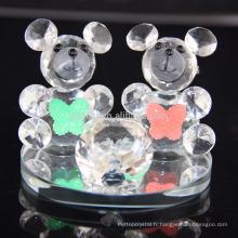 Vente chaude belle ours en cristal K9 pour cadeau d'anniversaire