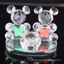 Hot sale lovely K9 crystal bear for birthday gift