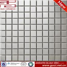 Fourniture d'usine de foshan carreau de mosaïque en acier inoxydable carré pour mur de salle de bains