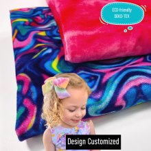 Polyester Tie-Dyed Digital Printed Camouflage Velvet Fabric