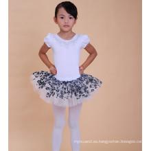 Vestido de ballet de encaje de alta calidad vestido de tutú de niña de 3 años de la falda de ballet profesional de tul para la venta