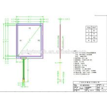 89.5x69.5 mm 3.9 inch 4 wire industrial touch screen with 15007 FPC