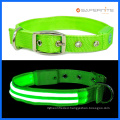 Night Fluorescent Lighted Dog Collar And Leash