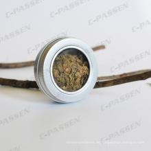 60g Aluminium Tee Dose mit Fensterdeckel