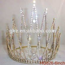 Pearl beauty pageant crown&tiaras rhinestone wedding tiara plastic crown customized crowns