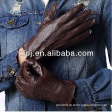 El custome hizo los hombres baratos guantes de cuero baratos del estilo de los hombres