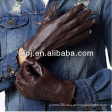 custome made winter warm cheap leather gloves men style