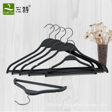 zara style black flat plastic shirt clothes hanger