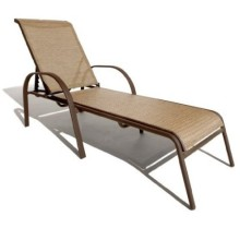 Outdoor 2*1 textilene furniture sling lounge chair