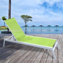 Position réglable en aluminium plage sunbed