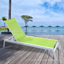 Adjustable position aluminum beach sunbed