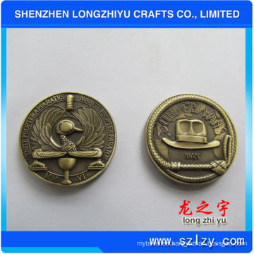 Moneda de metal personalizada de plata Medalla de bronce antiguo Medalla de diseño 3D Medalla de cobre Metam Monedas de insignia para regalos conmemorativos, monedas de copia de novedad