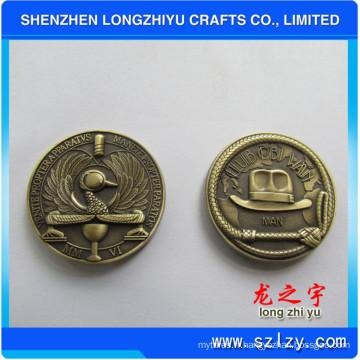 Round Custom Metal Coin Antique Bronze 3D Design Medallion Challenge Metam Copper Medal Badge Coins pour cadeaux commémoratifs, nouveauté Copy Coins