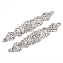 crystal belt sash bridal beaded appliques RH1035