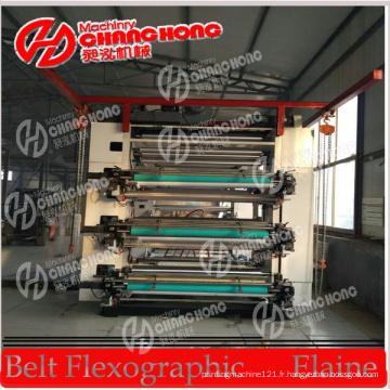 Machine d'impression de Flexo de six couleurs de 1.6meter / machine d'impression de Flexo