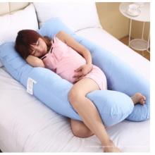 Oreiller multifonctionnel de corps de type E de côté de taille de forme de U de grossesse