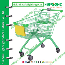 retail shopping cart, supermarket customer shopping trolley,canadian shopping cart with token keychain