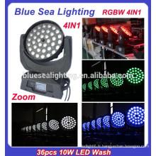 LED tête mobile tête de douche rgbw 36pcs 10W 4in1 haute qualité