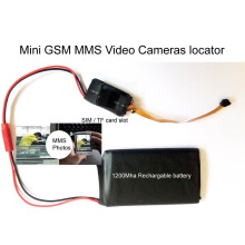 Mini GSM MMS Alarm Camera Photos Video Recorder Bug Two Way Security Detector Montor Tracker with 4000mAh Battery