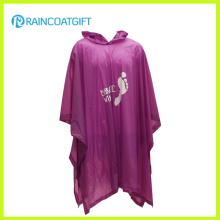 Werbe Erwachsenen klar PVC Regen Poncho RGB-126A