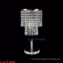Mini standing bedroom table lamp with crystal drops 20065