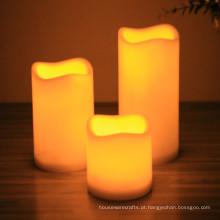 Decoração sem chama da casa da vela do diodo emissor de luz da coluna votiva da bateria