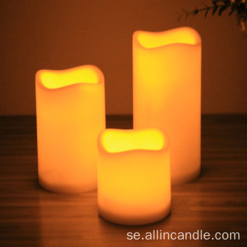 Batteri Votive Pillar Flameless LED Candle Home Decor
