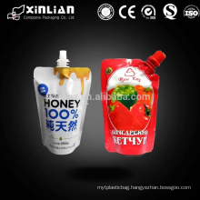 Spout pouch Top Sealing & Handle and Accept Custom Order plastic bags manufacturer
