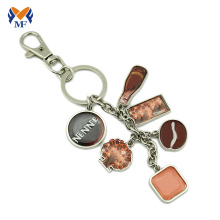 Sublimation metal sticker printing keychain for sale