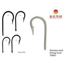 Silver Color Stainless Steel Angle Type Fishing Hook 7699d