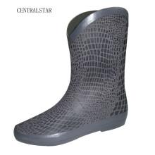 Women New Style Snake Skin Printing Rain Boots
