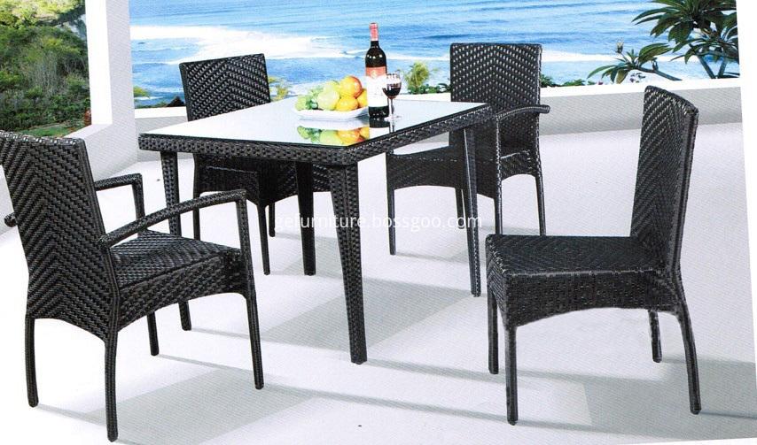 Wicker Furniture Square Table