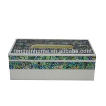 Seashell madrepérola shell produto Nova Zelândia paua shell retângulo boutique kleenex titular