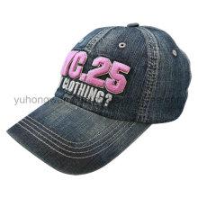 Bordado lavou a boné de beisebol dos esportes, chapéu do Snapback