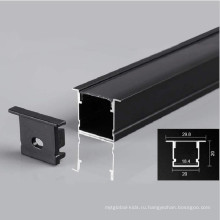 черный светодиодный линейный светильник алюминиевый профиль