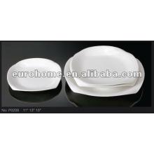 Weiße Porzellanteller - Eurohome P0208