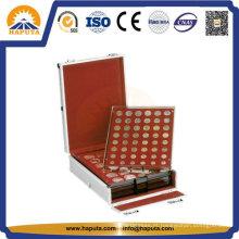 Caixa de alumínio moeda Display titular para armazenamento de coleção de moedas