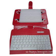 7-inch Universal Tablet Keyboard with Case, Red Color