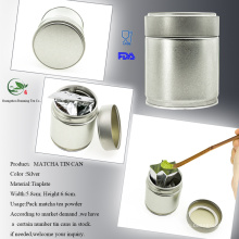 Réservoir en métal Matcha Tea Screw Can Can Matcha