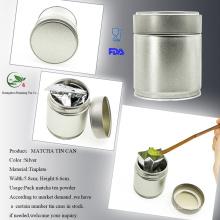 Metal Matcha Tea Canister Parafuso Topo Pode Tor Matcha De Armazenamento