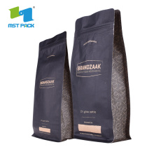 Kraft Paper Coffee Bag med avgasventil