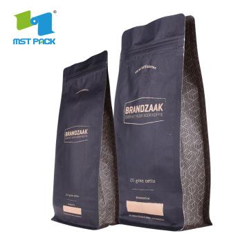 Кофейный мешок из крафт-бумаги с дегазационным клапаном