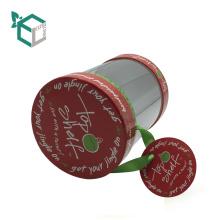 caja de cartón de papel tubo de papel de caramelo con embalaje de tapa