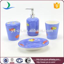 Accesorio de baño de ducha de cerámica de diseño de peces de mar