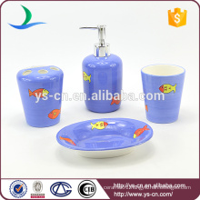 Sea-fish design ceramic shower bathroom accessory